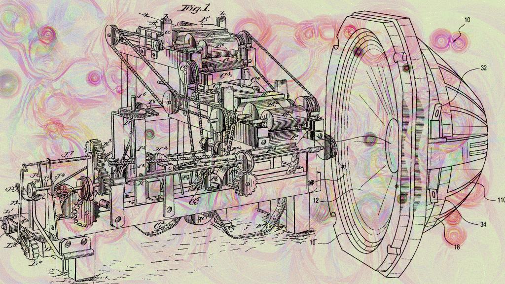 Speaker Machine Abstract Art
